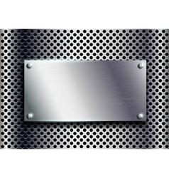 Metal plate vector
