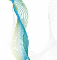 wavy line design vector image