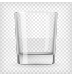 Empty glass vector