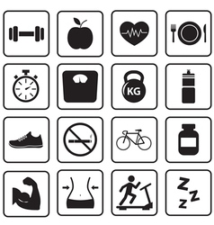 Health and fitness icon vector