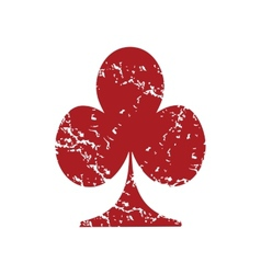 Red grunge card logo vector