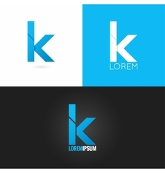 Letter k logo design icon set background vector
