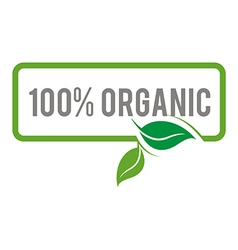 Logo natural product organic healthy garden design vector