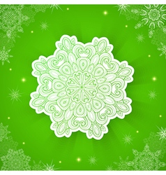 Decorative green christmas background vector