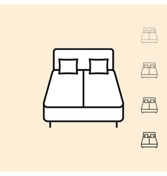 Icon of bed vector
