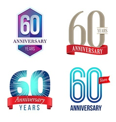 60 years anniversary symbol vector