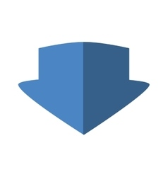Blue arrow icon direction concept graphic vector
