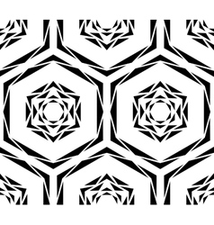 Abstract Black Rose Tile Pattern vector image