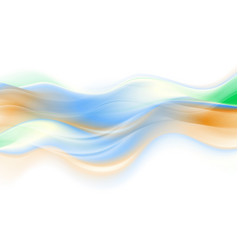 abstract colorful smooth blurred waves background vector image vector image