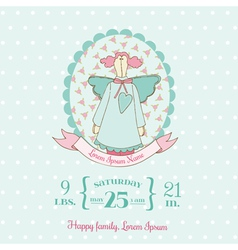 Baby Shower and Arrival Cards - Doll theme vector image