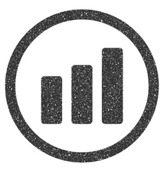 Bar chart increase icon rubber stamp vector