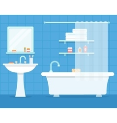 Bathroom with furniture vector
