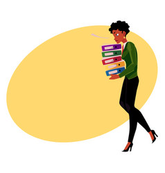 Black african american businesswoman woman vector