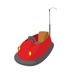 Bumper cars in amusement park cartoon icon vector