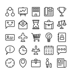 Business and office line icons 6 vector
