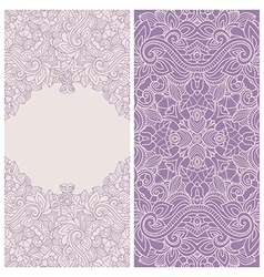 card template with floral pattern vector image vector image