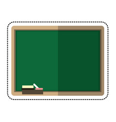 cartoon chalkboard eraser white chalk vector image