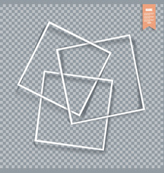 Collection of paper corners frames and edges vector