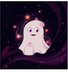 cute magic ghost vector image vector image
