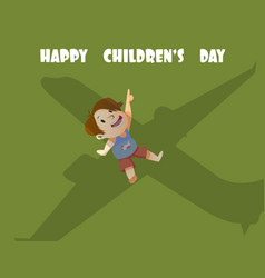 digital happy children day card vector image vector image