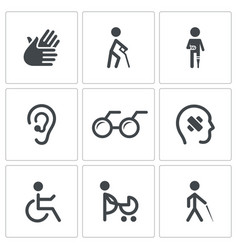 Disability Icon collection vector image vector image