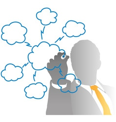 drawing cloud vector image vector image