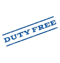 Duty free watermark stamp vector