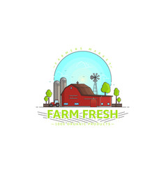 Farm fresh logo template vector