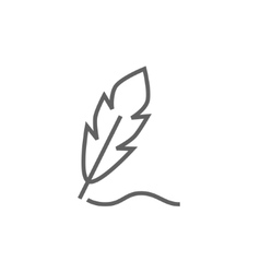 Feather line icon vector image vector image