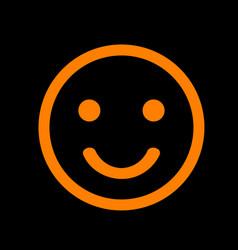 Fishing hook sign orange icon on vector
