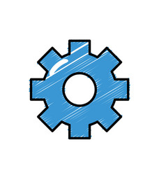 gear engineering industry process technology vector image