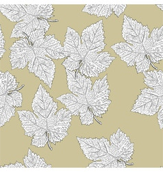 grape leaves seamless pattern vector eps8 easy edi vector image