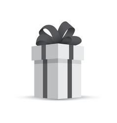 grey gift box isolated on white background vector image