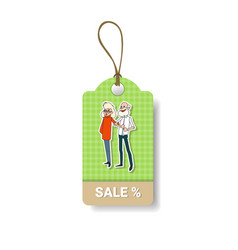 happy grandparents day shopping tag holiday sale vector image vector image