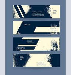 header set creative banner grunge design vector image vector image