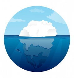 Iceberg with killer whale vector