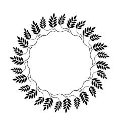 Laurel wreath circle tattoo icon ornament of dove vector