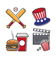 leisure activities set vector image