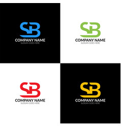 Letter sb logo icon flat vector