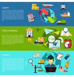 Logistic time is money and delivery vector image vector image
