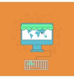 modern online shop background vector image