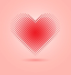 Red heart halftone on pink background vector