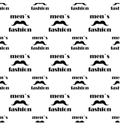 seamless pattern with mustache vector image vector image