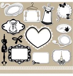 Set of frames symbols tools and accessories vector