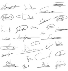 signatures Stock vector image vector image