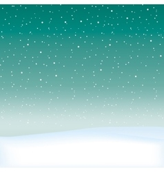 Snow theme background vector image vector image