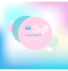 Soft blur background vector image vector image
