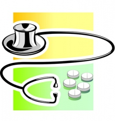 stethoscope with tablet vector image vector image
