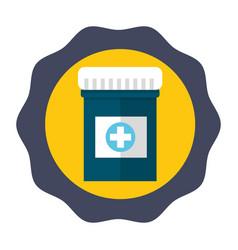 Sticker medical care drugs treatment medicine vector