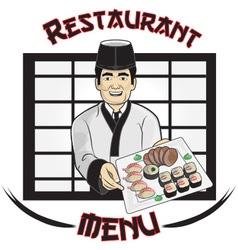 Sushi Restaurant Menu vector image